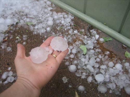 Hail pellet size